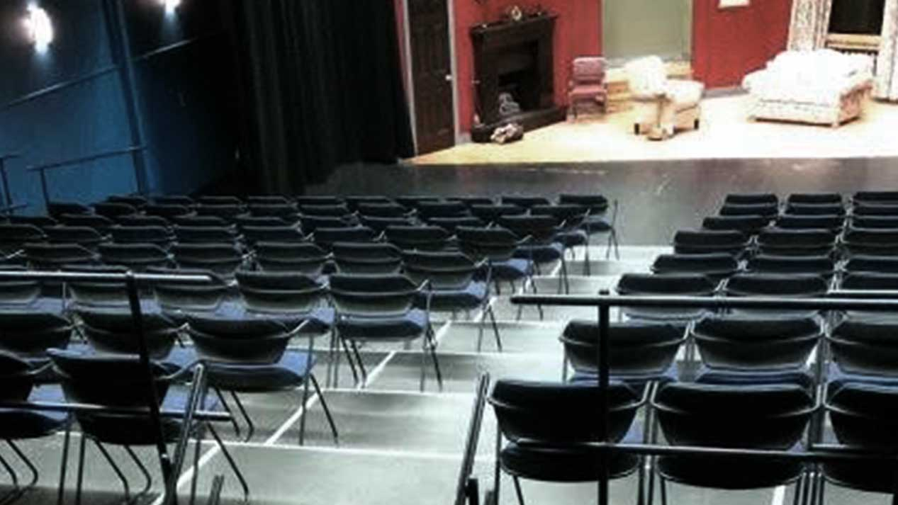 Audience riser seating in theatre