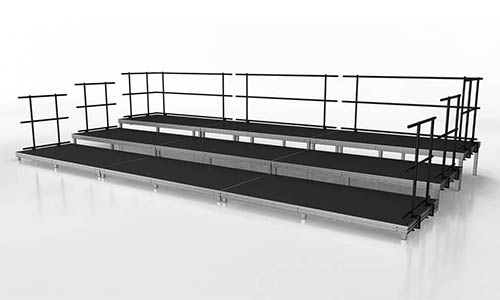 small seated band or audience stage riser package