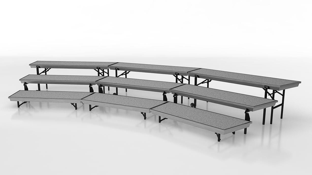 tapered standing choral risers small setup package