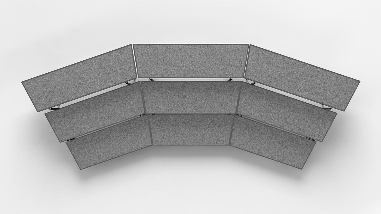tapered standing choral risers small setup top view
