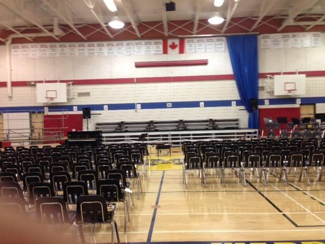 School auditorium stage