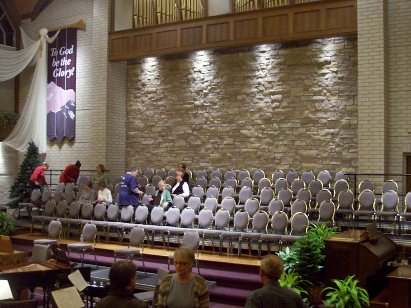 audience seating in church