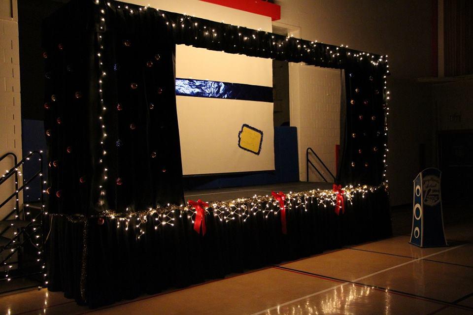 Stage in school gymnasium