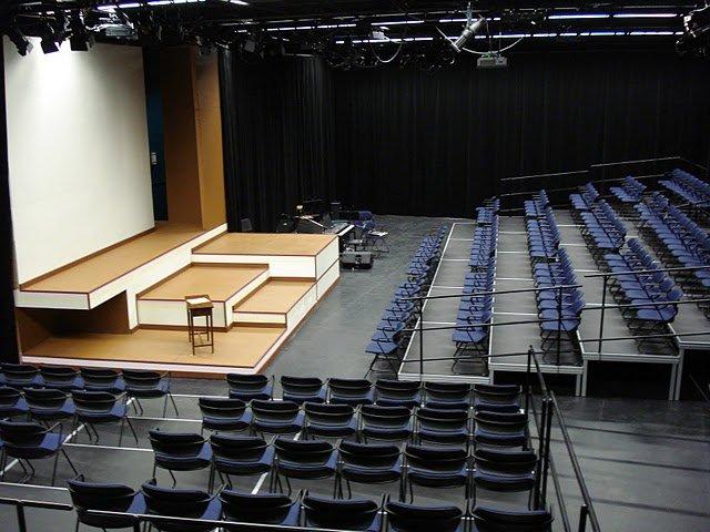 Thrust seating for auditorium school